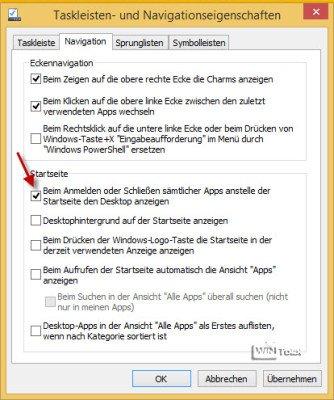 Windows 8.1 Desktopeinstellungen