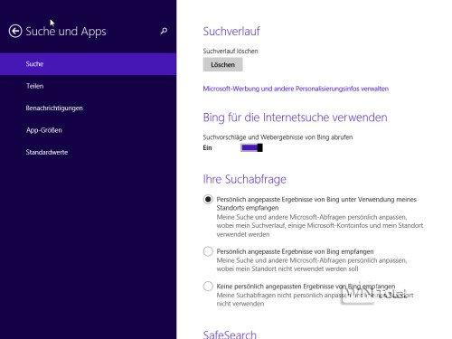 Windows 8.1 Suche