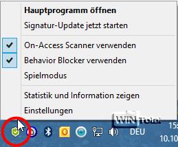 Infobereich, Ashampoo Anti-Virus2014