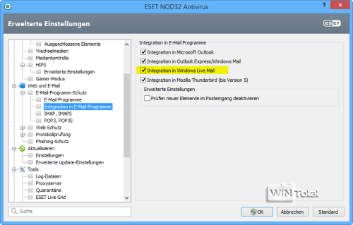 Integration, ESET V7