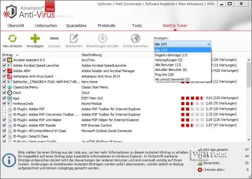 StartUp Tuner, Ashampoo Anti-Virus2014
