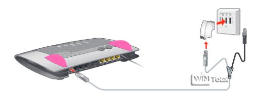 """FRITZ!Box 7390 18 Mit dem Internetzugang verbinden Am reinen DSL- oder VDSL-Anschluss anschließen Wie Sie die FRITZ!Box mit dem reinen DSL- oder VDSL- Anschluss verbinden, hängt vom Lieferumfang ab: Wenn sich ein DSL-Kabel (grau) im Lieferumfang der FRITZ!Box befindet, verwenden Sie das DSL-Kabel: Anschluss mit DSL-Kabel 1. Schließen Sie das DSL-Kabel an die Buchse """"DSL/TEL"""" der FRITZ!Box an. 2. Stecken Sie das freie Kabelende in die mit """"F"""" beschrif- tete Buchse Ihrer TAE-Dose. Die Leuchtdiode """"Power / DSL"""" beginnt nach kurzer Zeit dauerhaft zu leuchten. Damit ist die FRITZ!Box für Inter- netverbindungen bereit. Wenn sich kein DSL-Kabel im Lieferumfang befindet, verwen- den Sie das DSL-/Telefonkabel (Y-förmig) und den DSL-Adap- ter (grau): Anschluss mit DSL-/Telefonkabel und DSL-Adapter"""