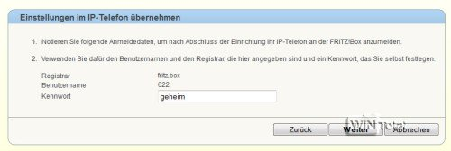 IP-Telefonie, Fritz!Box