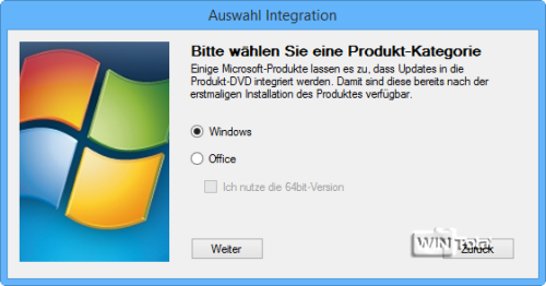 Windows auswählen