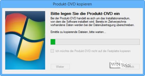 Legen Sie die Produkt-DVD ein