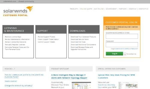 SolarWinds, Dameware, Handhabung