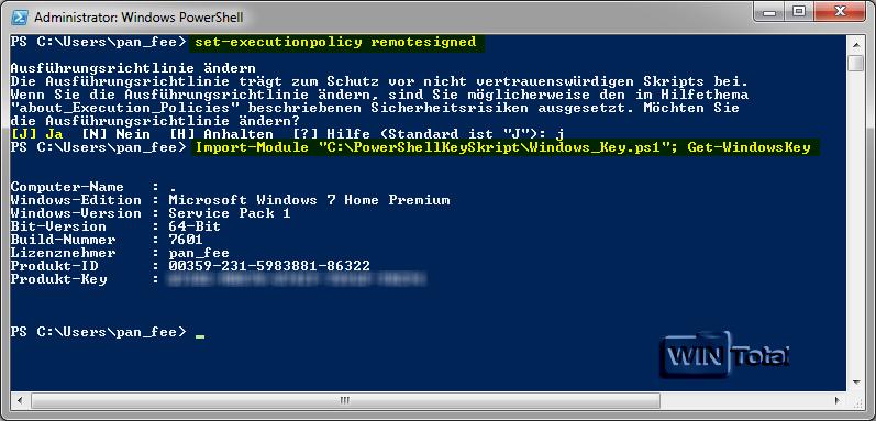 Mit PowerShell den Windows-Produktkey auslesen - WinTotal.de
