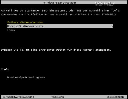 Vista und frühere Versionen auf einem System