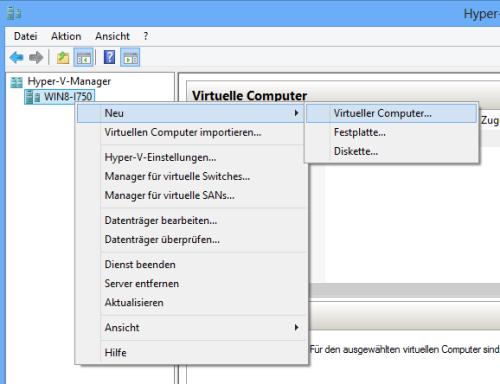 Neuer virtueller Computer