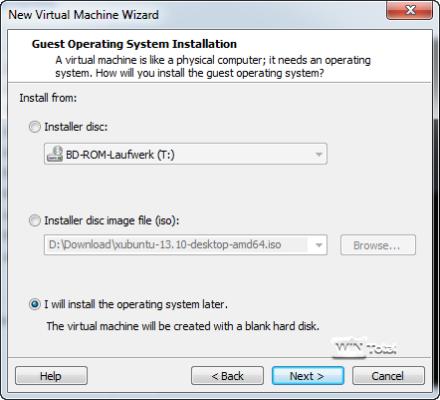 Einstellungen VMware
