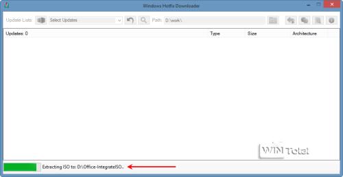 Office-ISO-Datei wird im Ordner ISO von Office-Integrate entpackt