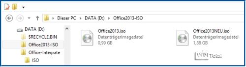 Alte und neue Office-ISO-Datei