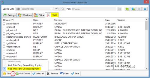 Drivers Backup über Dism mit Microsoft-Treiber