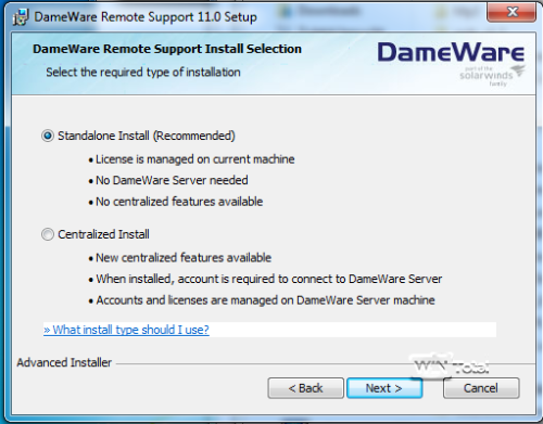 DameWare 11 Installation