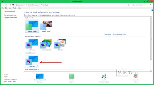 Aero Lite unter Desktop anpassen