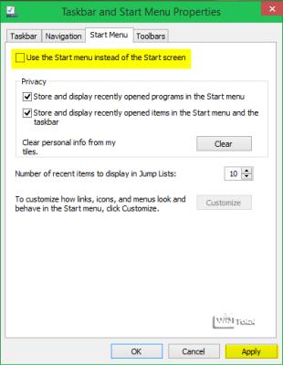 Register Start Menu