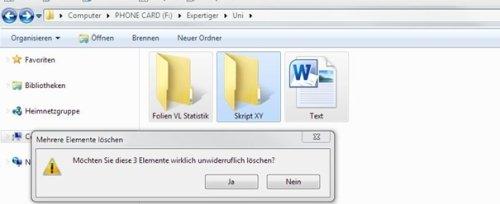 Dateien löschen