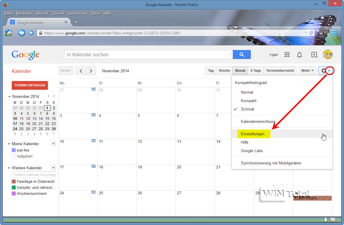 Google-Kalender in Microsoft Outlook einbinden, manuell