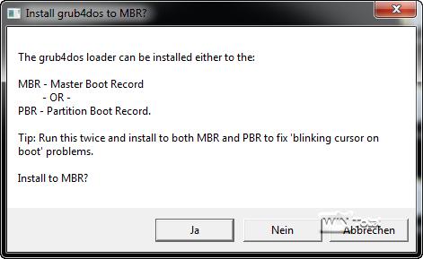 Installation im MBR