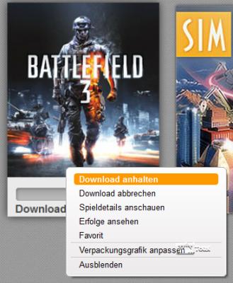 Download anhalten