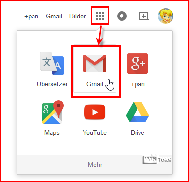 Einloggen in Gmail