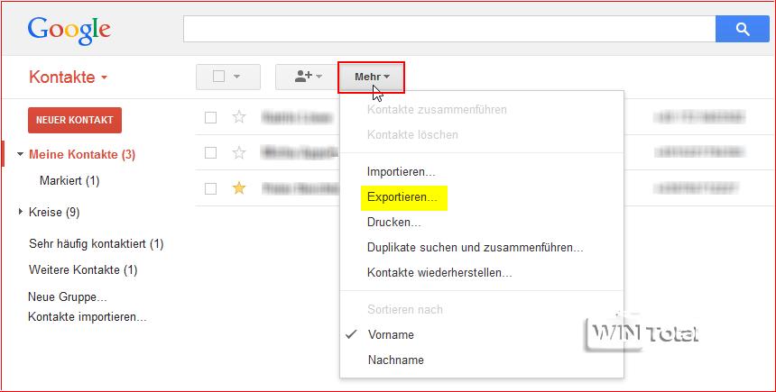 wo finde ich meine kontakte bei gmail