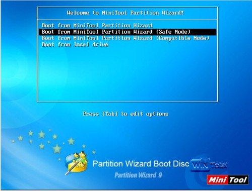 Notfallmedium von MiniTool Partition Wizard