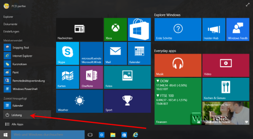 Win10 Build 10061 Power