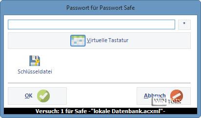 An Passwort Safe anmelden