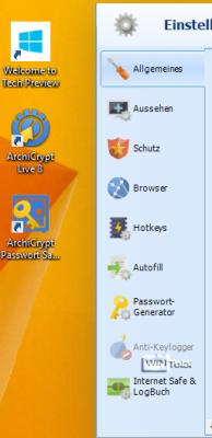 Passwort Safe unter Windows 10
