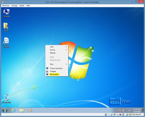 Desktophintergrundbild ändern