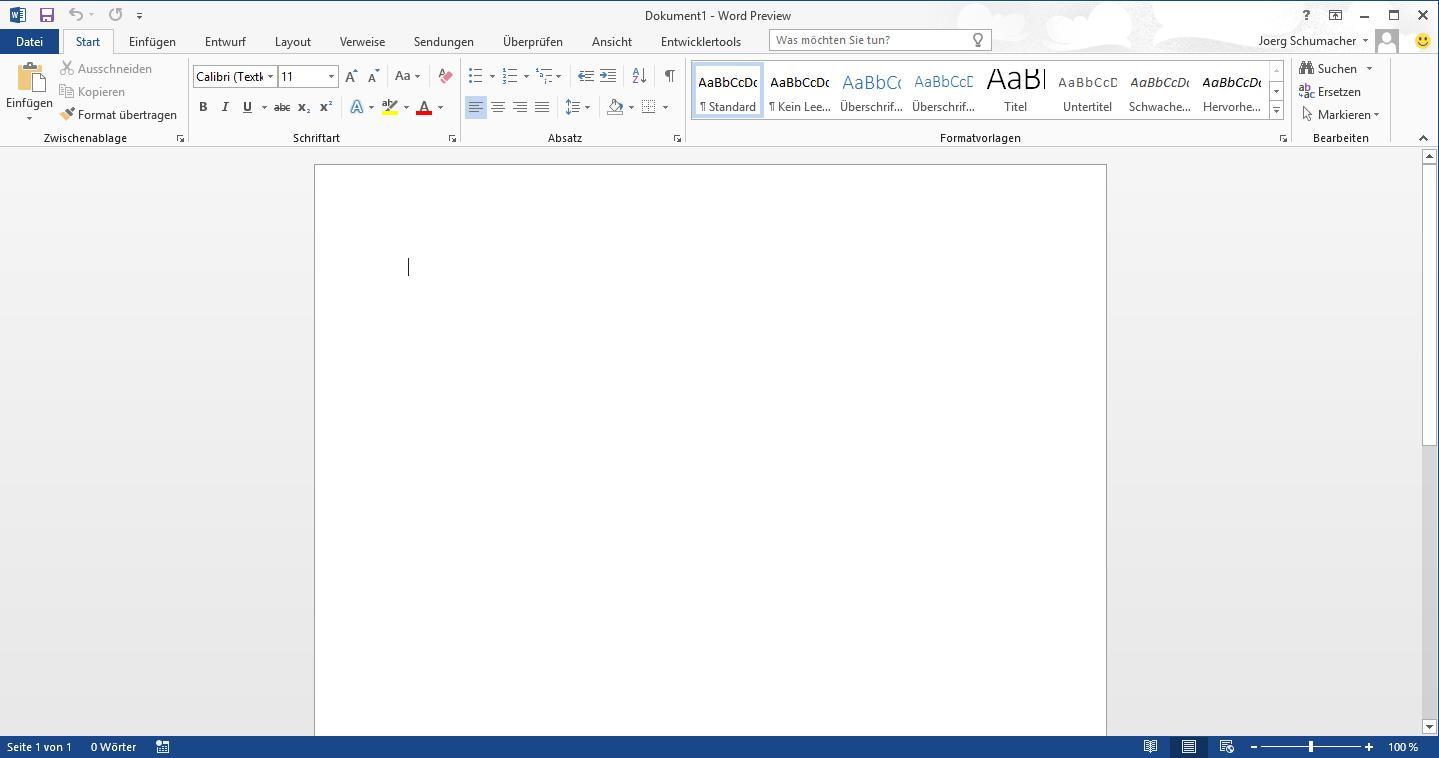 Angetestet: Microsoft Office 2016 Public Preview - WinTotal.de