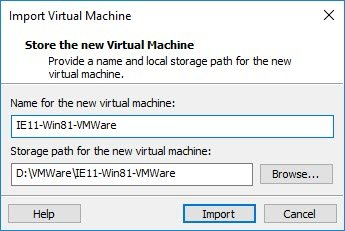 VM importieren