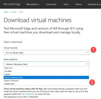 Download virtual machines