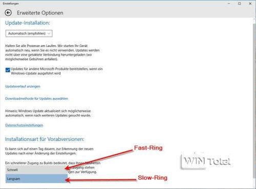 Rings in Windows 10
