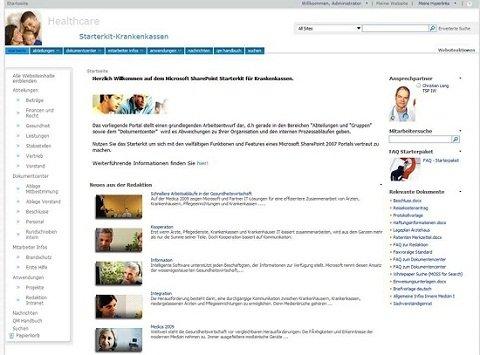 Sharepoint Startseite