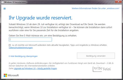 Windows 10 Benachrichtigung