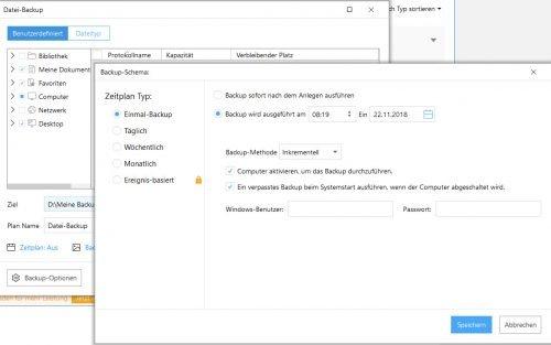 Easeus Todo Backup Dateibackup mit Zeitplan