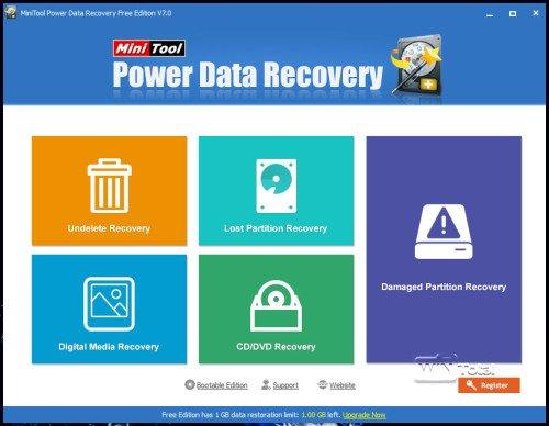 Hauptmenü Power Data Recovery