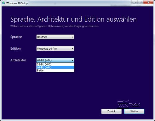 Windows 10 ISO herunterladen