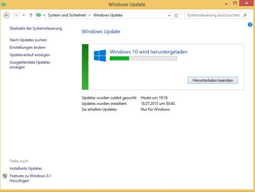 Update zu Windows 10 anstoßen