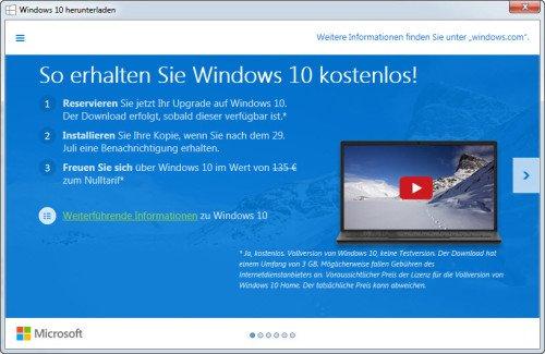 Windows 10 kostenlos