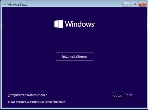 Clean-Installation von Windows 10