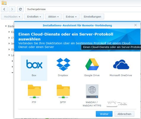 Filestation Clouddienste