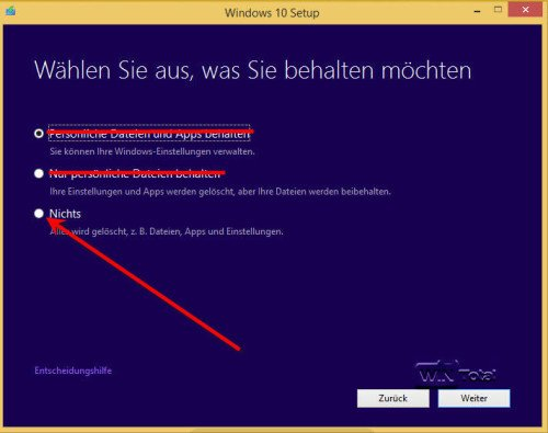 Clean-Installation mit dem Media Creation Tool