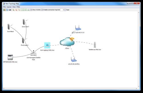 Beispiel Netzwerktopologie mit WLAN-Information