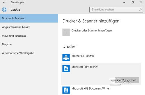 PDF-Drucker unter Windows 10