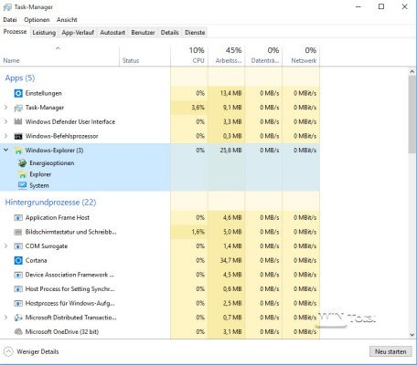 Taskmanager Windows 10