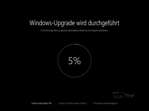Windows 10 wird installiert