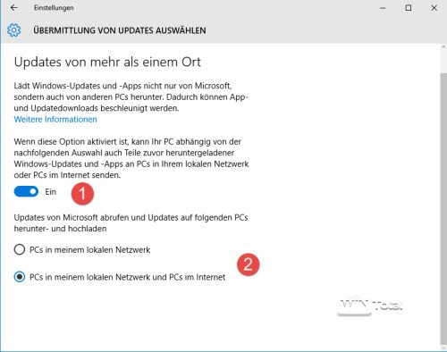 Installationsart von Updates